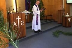 Start of Palm Sunday Service