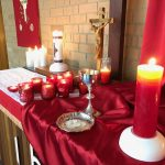 Altar on Pentecost Sunday